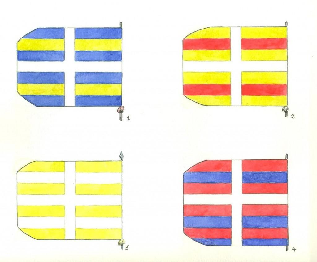 Schweizer Fahne in der Schlacht von Pavia