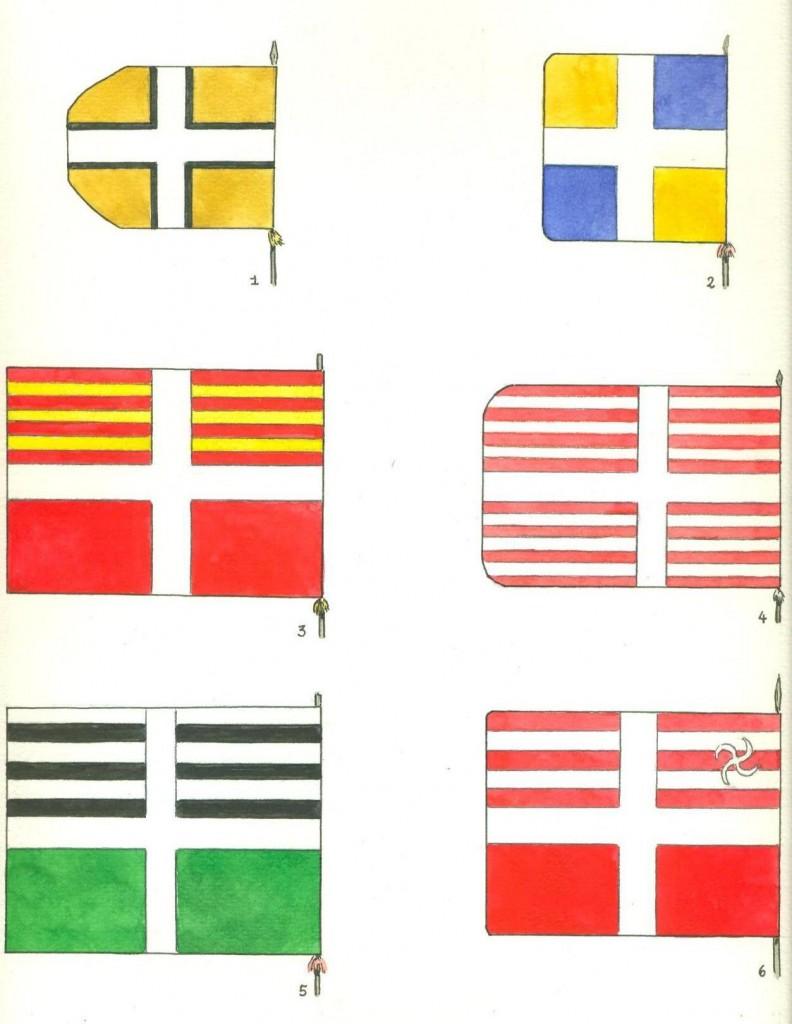 bandiere svizzere al servizio francese, Fahne schweizerregiments in franzoischen diensten