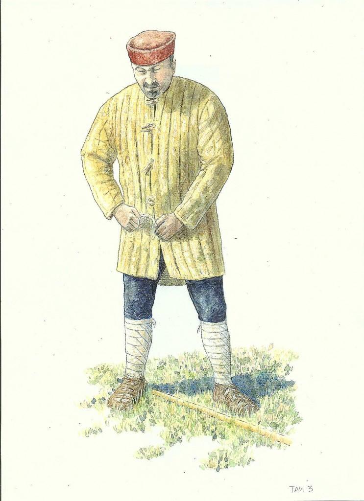 tav.3 legionario del IV° sec. vestizione