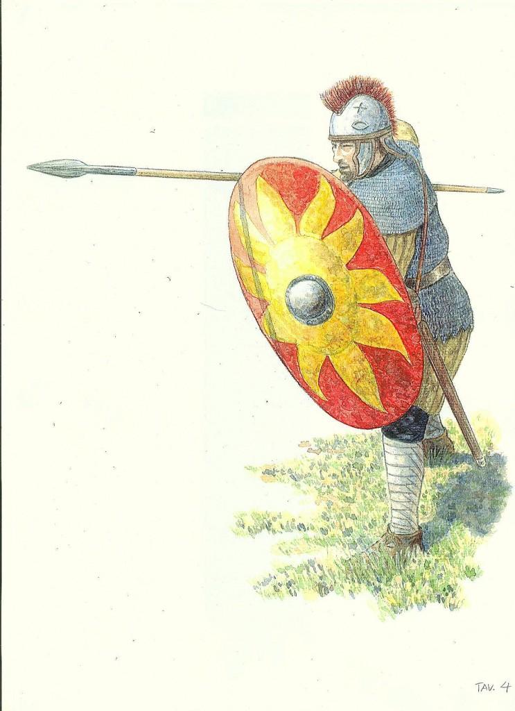 tav.4 legionario del IV° sec. in assetto di combattimento