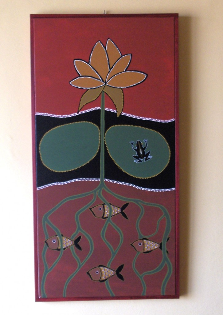 lotus flower acrylic