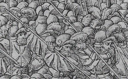 Fig.5  lanzi alla battaglia di Ceresole