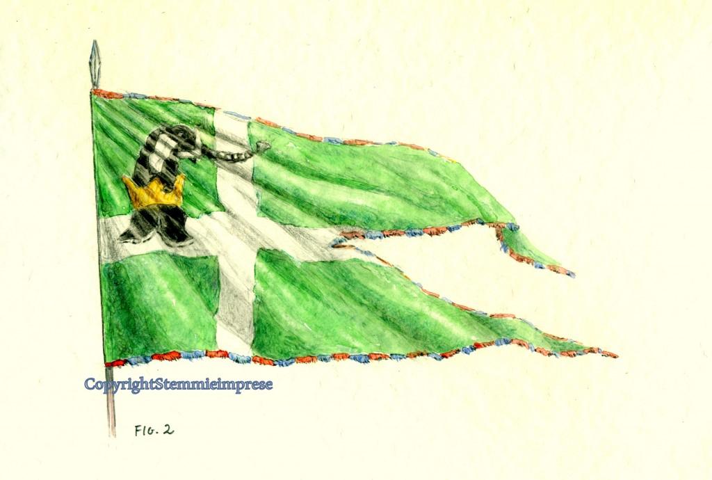 stendardo guelfo di Pandolfo III° Malatesta